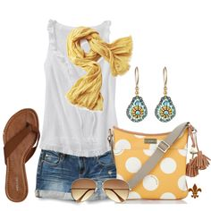 Yellow Polka Dot, created by hatsgaloore on Polyvore
