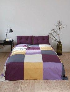 Sengetæppe i lagenlærred Sov sødt i lækre kulører Lad et MEGA-quiltet sengetæppe, komponeret i dine yndlingsfarver, udsmykke soveværelset.  - stof2000.dk