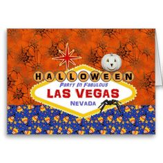 Halloween Party In Fabulous Las Vegas Card