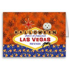 Halloween Party In Fabulous Las Vegas Card