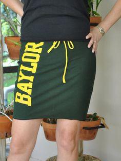 Baylor University Bears green gold women sports by twochixremix, $24.99