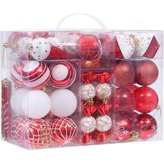 Shatterproof Christmas Ball Ornaments Set Xmas Tree Ornament Baubles Pendants  #SeaTeam