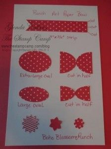 Punch Art Paper Bow - bjl  Stampin' Up!