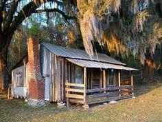 """Old Florida Cabin"" by Randi Kuhne, Homosassa // Rustic old cabin in Citrus County, Florida. // Imagekind.com"