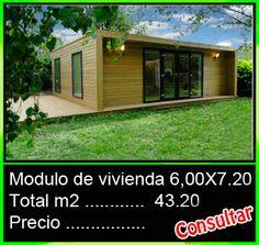 Conjunto modular de madera (x3)