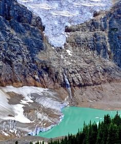 🇨🇦 Glacier Lake (Angel Glacier, Jasper, Alberta) by Marina Poushkina on Nationalparks Usa, Jasper Alberta, Rocky Creek, Glacier Lake, Banff, Canada Travel, Ottawa, Vacation Spots, Rivers