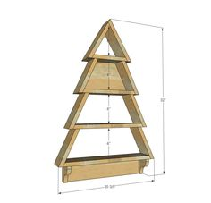 Ana white build a tree wall shelf free and easy diy project and furniture plans Christmas Card Display, Wood Christmas Tree, Christmas Diy, Christmas Cards, Diy Christmas Projects, Xmas, Wood Projects For Beginners, Diy Wood Projects, Wood Crafts