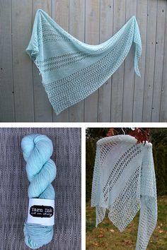 Ravelry: Wildheart shawl with Yarn Ink Sparkle Fingering - knitting pattern by Janina Kallio.