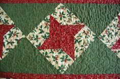 Christmas Stars Quilted Table Runner by Jaimesews on Etsy, $70.00