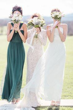green bridesmaids dress ideas