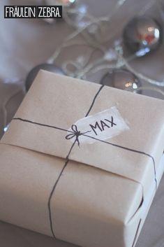 Geschenkverpackung mit Kartoffelstempeln | Stamped Gift Wrap