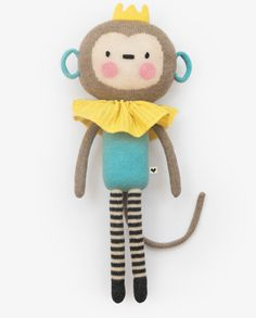 Lauvely Friend No. 3 - Monking - Knitted dolls stuffed toy plush soft gift for kids and babies baby shower new parents circus monkey Baby Toys, Kids Toys, Mermaid Kids, Monkey Doll, Handmade Soft Toys, Diy Stuffed Animals, Stuffed Toy, Baby Christmas Gifts, Fabric Animals