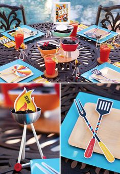 Modern BBQ Party Table Decor by Jenn Sbranti for HWTM