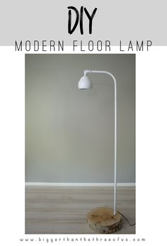 This DIIY Modern Floor Lamp was inspired by one that found at Land of Nod. Use this step-by-step tutorial to make one at a fraction of the cost!