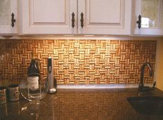 wine+cork+backsplash | Wine Cork backsplash...personally created for a client while working ...