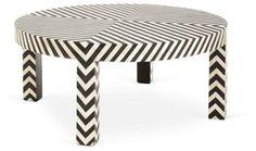 Sarah Cocktail Table, Black/Bone