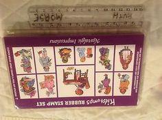 Lot-Of-Eleven-Nancie-West-Swanberg-Nostalgic-Impressions-New-Kidstamps-Rubber