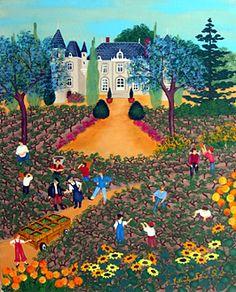 The Grape Harvest by Yolande Salmon-Duval