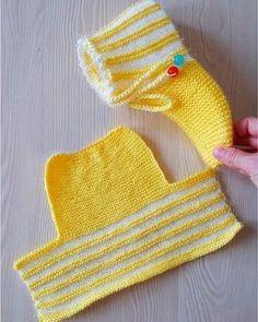 Crochet Leg Warmers, Crochet Socks, Knit Crochet, Knit Slippers Free Pattern, Crochet Slipper Pattern, Baby Knitting Patterns, Knitting Stitches, Crochet Patterns, Knitted Booties