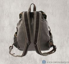 Leather-Canvas-Backpack-Canvas-Backpack-Laptop-Bag-14 Canvas Laptop Bag, Canvas Backpack, Laptop Backpack, Travel Backpack, Leather Backpack, Leather Bag, Canvas Bags, Designer Backpacks, Waxed Canvas