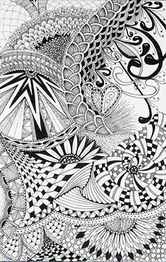 Tangled Mess ... aka creative doodling or zendoodling :)