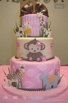 Baby shower cake for if its a girl :)