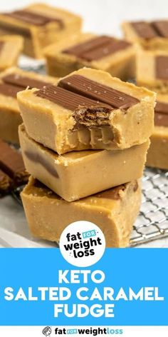 Salted caramel fudge is super easy to make keto-friendly, and with the help of a few extra ingredients within this recipe, I'll show you not only how to make delicious keto salted caramel fudge, but how to take it to the NEXT LEVEL! #keto #ketodesserts Sugar Free Desserts, Sugar Free Recipes, Healthy Desserts, Low Carb Recipes, Easy Recipes, Keto Snacks, Keto Foods, Ketogenic Recipes, Keto Fudge