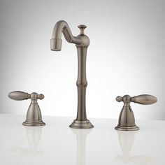 Paradis Widespread Bathroom Faucet - No Overflow - Oil Rubbed Bronze