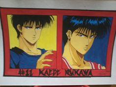 "KAEDE RUKAWA of ""SLAM DUNK"" Inoue Takehiko, Slam Dunk, Slums, Basketball Players, Baseball Cards, Sketches, Artist, Anime, Sports"