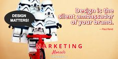 Design Matters: Design is the silent ambassador of your brand -- Paul Rand. Marketing Morsels by Liberty Digital web design and marketing solutions
