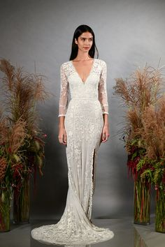 abf6a152365d Hermione De Paula Bridal Fall 2019- Tropic Utopia Gown #wedding  #weddinggown #bride