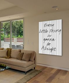 Look at this #zulilyfind! 'Every Little Thing' Wood Wall Art #zulilyfinds