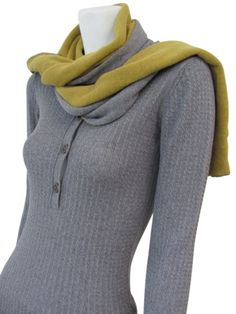 Long and thin double face and bicolor scarf on sale.  #Women #Clothing