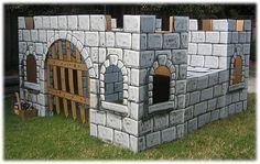 Castillo de cartón para niñ@S, tutorial.