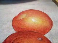Pintura em tecido Eliane Nascimento: Como eu pinto maçãs - Parte 2 - YouTube