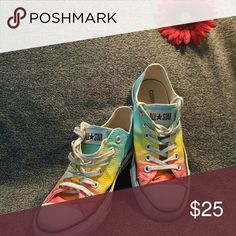 Converse All*Star sneakers Rainbow colored Converse sneakers. Converse Shoes Sneakers