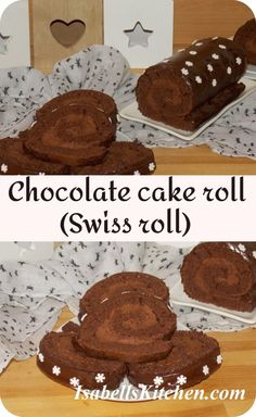 Chocolate Swiss Roll, Chocolate Roll Cake, Chocolate Sponge Cake, Homemade Chocolate, Chocolate Recipes, Chocolate Party, Hot Chocolate, Best Pastry Recipe, Pastry Recipes