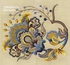 Resultado de imagem para embroidery pattern jacobean