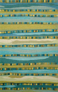 Seville Mosaic Stripe Blue Rug from the California Collection I collection at Modern Area Rugs