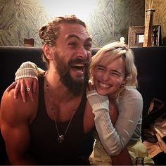 "Ahh! I just love them!!!  | Emilia Clarke Shared A Photo Of Her Reunion With Jason Momoa And ""GoT"" Fans Are Losing It"