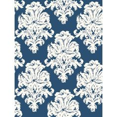 Montserrat Wallpaper in Blue from the Tortuga Collection by Seabrook W – BURKE DECOR