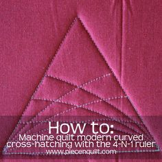 How-to Machine Quilt Modern Curved Cross-Hatching on a Triangle Quilt Block