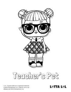 Teachers Pet Coloring Page Lotta LOL