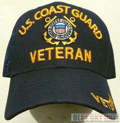 NEW LICENSED U.S. COAST GUARD USCG VETERAN VET SEMPER PARATUS 1790 CAP HAT BLUE #Premiumhat #BaseballCap