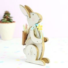 Wooden Easter Bunny Decoration at lisaangel.co.uk