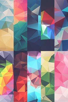 Low-Poly Polygonal Texture Free Download on Behance