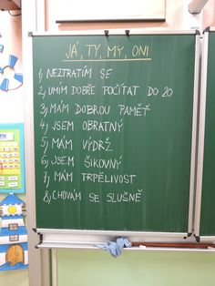 Projekt Já, ty, my, oni - 2. třída Chalkboard Quotes, Letter Board, September, Classroom, Album, Lettering, Projects, Class Room, Drawing Letters