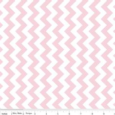 Cotton Fabric, Chevron Baby Pink and White Small from Riley Blake Designs