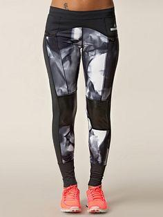 Run 7/8 Tight - Adidas By Stella Mccartney - Black/White - Tights - Sports Fashion - Women - Nelly.com Uk