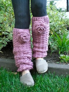 Crochet Leg Warmer Pattern - Whiteshell Winter Leg Warmers Pattern with Instructions in Pictures and in Writing - Instant Download!